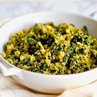 Curried Cauliflower Kale Rice {Gluten Free, Vegan}.