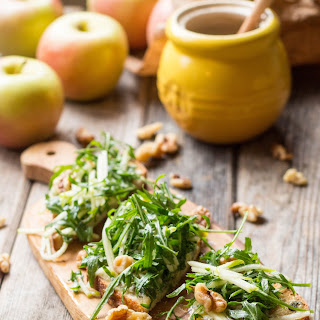 Blue Cheese Tartines with Apples + Arugula