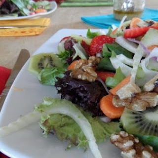 Spring Salad with Walnut Vinaigrette