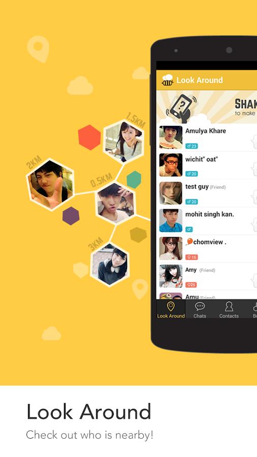 Screenshots of BeeTalk for iPhone
