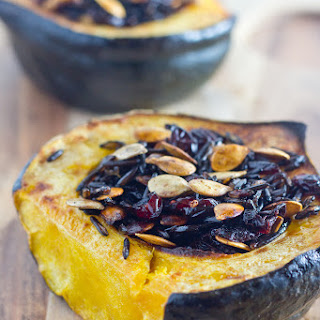 Cranberry and Wild Rice Stuffed Acorn Squash