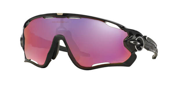 Oakley Jawbreaker in Polished Black and Red Polarized Iridium
