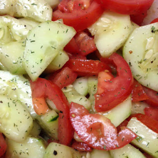Cucumber Tomato Vinegar Salad Recipes