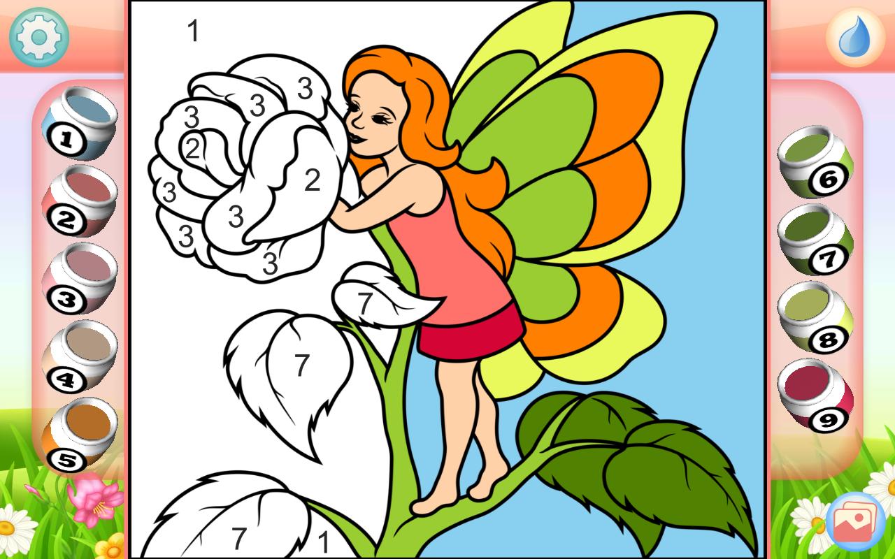 fairy coloring book screenshot - Fairy Coloring Book