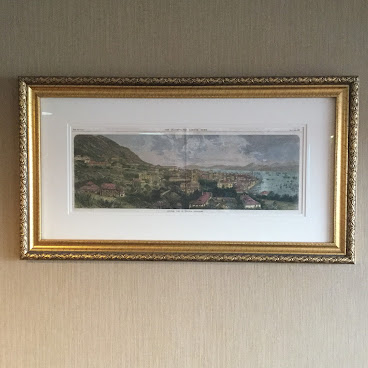 1866 View of Hong Kong , museum quality framing,