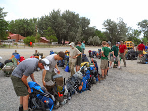 Photo: Getting ready to hit the trail.