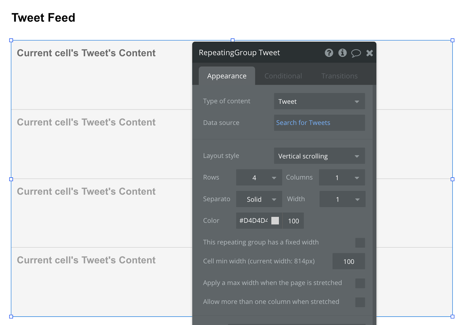 Bubble No Code Twitter Walkthrough Tutorial Twitter Feed