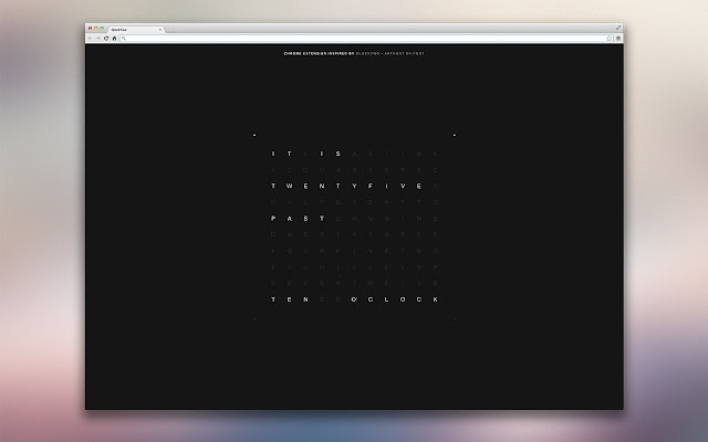 QlockTwo Chrome Extension