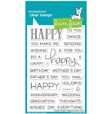 Lawn Fawn Clear Stamps 4X6 - Happy Happy HappyLawn