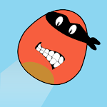 Angry Ninja Jumping Bird Icon