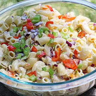 Simple Summer Macaroni Salad [Vegan]
