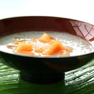 Tapioca Pearls with Sweet Coconut & Melon.