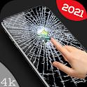 Broken Screen Glass Wallpaper 4K icon