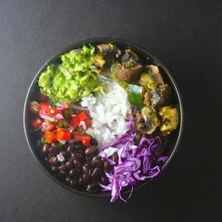 Grilled Portobello and Zucchini Burrito Bowl