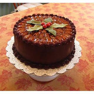Caramel Turtle Cake.