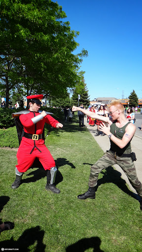 GUILE vs BISON - real life street fighter in Toronto, Ontario, Canada