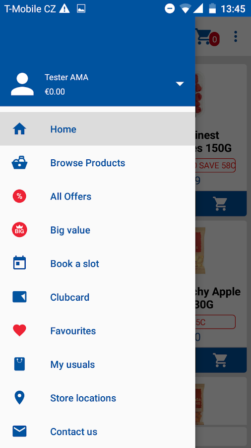 Tesco Ireland - Home Shopping- screenshot