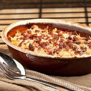 Cheesy Ham and Hash Brown Potato Casserole.