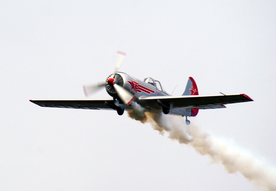 Coming in  by John More - Transportation Airplanes ( flying, displays, plane, smoke, airshow )