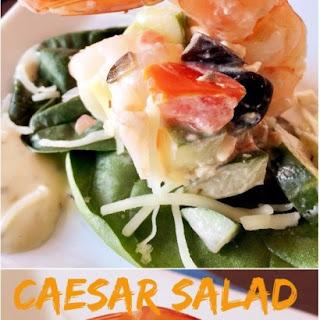 Caesar Salad Stuffed Shrimp.