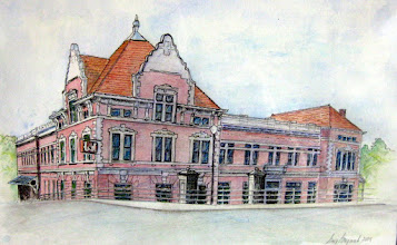 Photo: L & N Station, Knoxville  watercolor 14x28