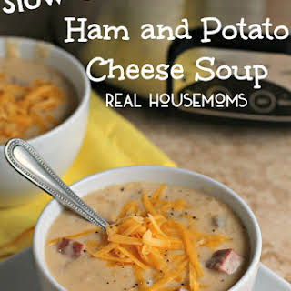 Slow Cooker Ham and Potato Cheese Soup.