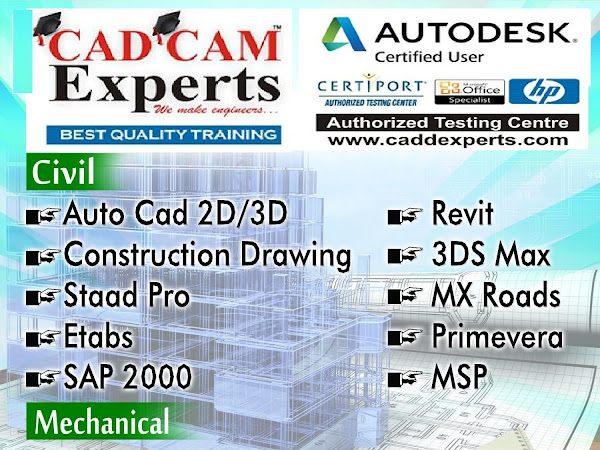 CAD CAM TRAINING AutoCAD,Staad Pro,3ds max,Solidworks,Revit