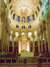 Photo: Inside Saint Anne De' Beaupro Basilica, Gouche paint effect