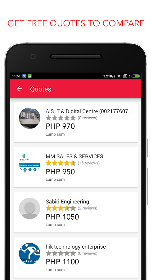 Gawin - Hire services- screenshot
