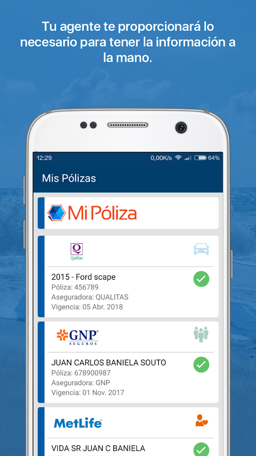 Mi póliza- screenshot