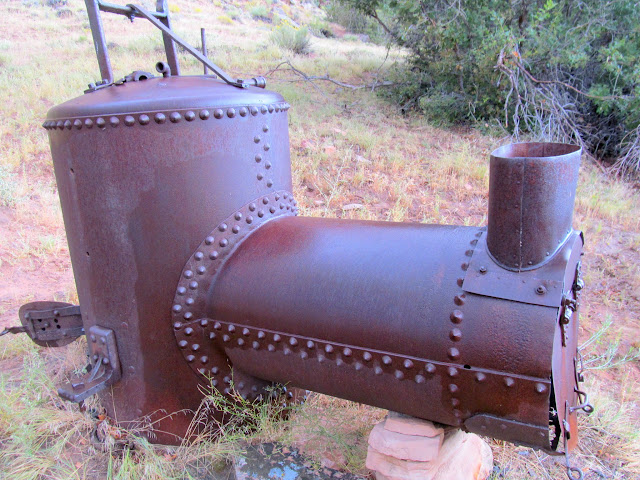 Boiler used to pump water to irrigate June's Bottom