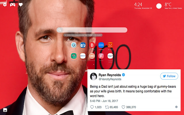 Hilarious Ryan Reynolds Tweets Themes New Tab