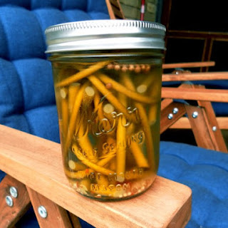 Pickled Garlic Scapes.