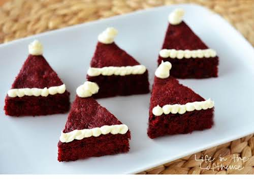 "Red Velvet Santa Hat Brownies ""The brownies I'm sharing today are totally..."