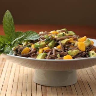 Soba Noodle Salad with Avocado and Mango.