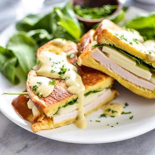 Turkey and Mozzarella Monte Christo Sandwiches with Maple Mustard Sauce