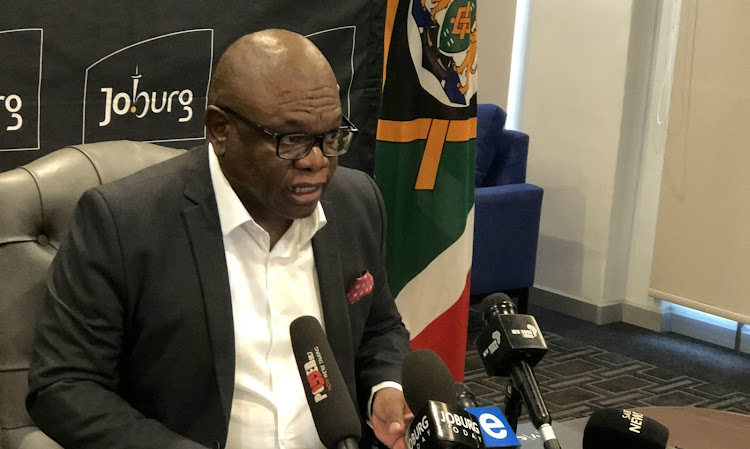 Joburg mayor Geoff Makhubo said the city's former mayor Herman Mashaba 'suffers from delusions of grandeur'. File photo.