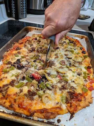 Crispy Low-Carb Pizza Dough Nut-Free