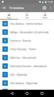 Tallinn Transport - timetables - náhled