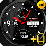 Watch Face Black Style Icon