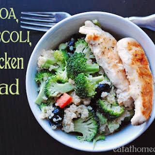 Quinoa, Broccoli and Chicken Salad.