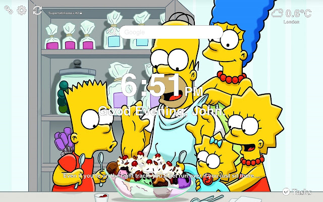 The Simpsons Wallpapers and New Tab