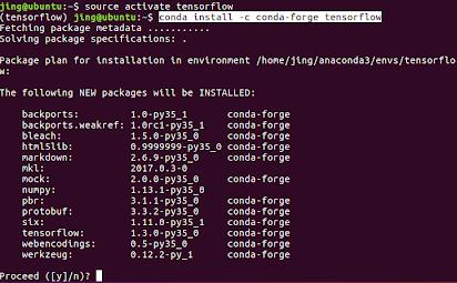 installation, tensorflow] How to install TensorFlow using Anaconda