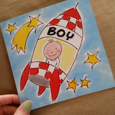 baby boy card blond