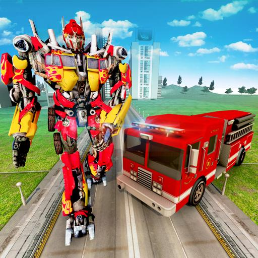 Robot Firefighter Truck Rescue City War