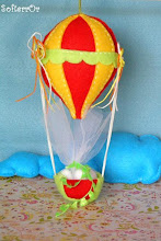 Photo: Αερόστατο Ο Μικρός Λεβάντες! Διαστάσεις είναι: ύψος, (από το μπαλόνι μέχρι το καλάθι) 19 εκατοστά περίπου και μήκος (μπαλονιού) 9 εκατοστά.