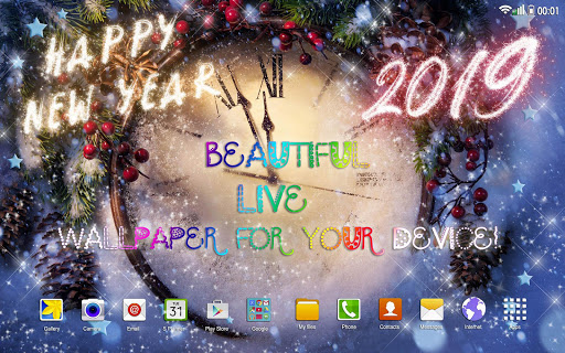 Happy New Year Wallpaper 2019 u2013 Holiday Background 2.5 screenshots 11