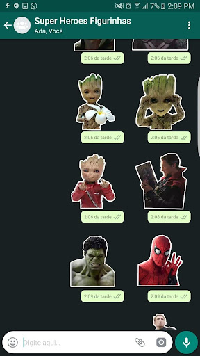 +100 Marvel WAStickerApps Figurinhas Super Heroes 이미지[2]