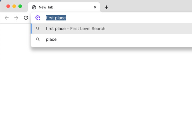 First Level Default Search