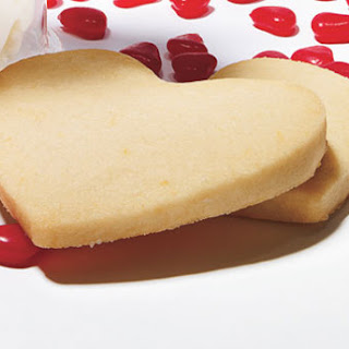 Lemon Shortbread Heart Cookies